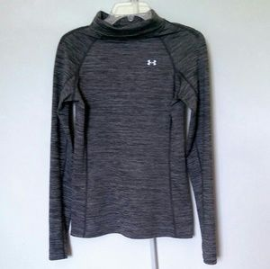 Under Amour Athletic Top Medium Gray Long Sleeve
